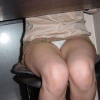 机の下パンチラエロ画像